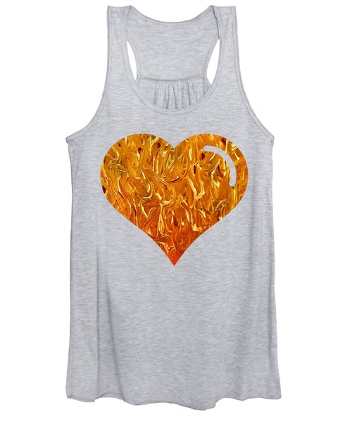 My Heart Is On Fire Women's Tank Top