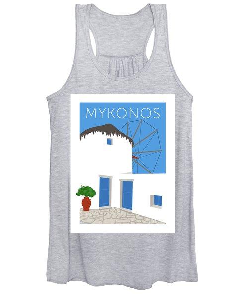 Mykonos Windmill - Blue Women's Tank Top