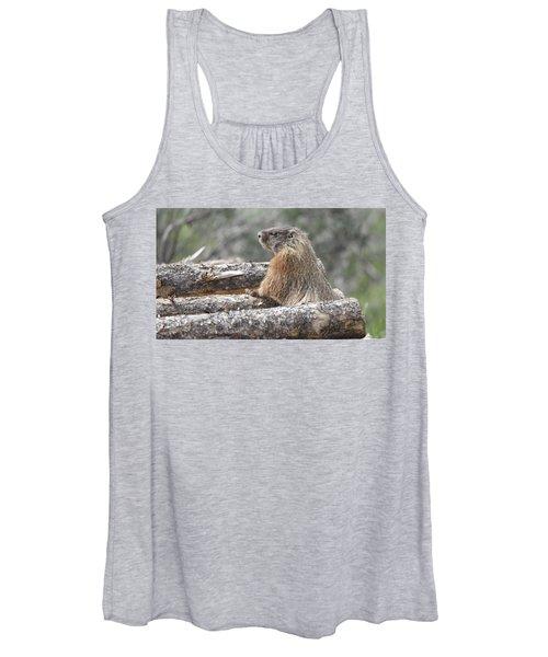 Napping Mountain Marmot Women's Tank Top