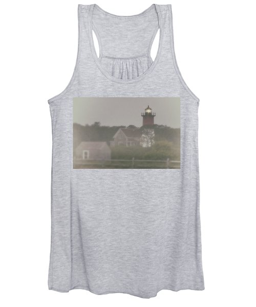 Nauset Lighthouse In Red And White From Early Morning To Late Women's Tank Top