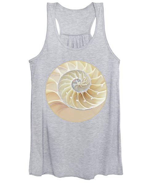Nautilus Natural Cream Spiral Women's Tank Top