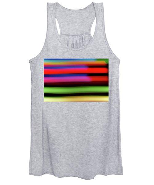 Neon Stripe Women's Tank Top