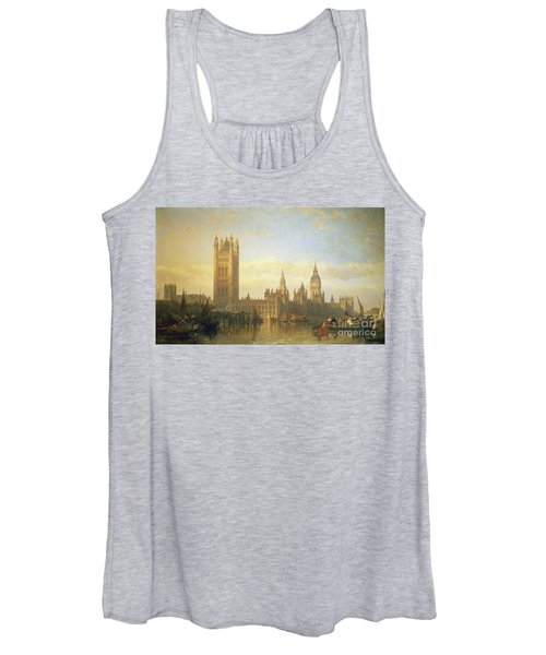 New Palace Of Westminster From The River Thames Women's Tank Top