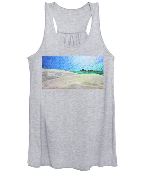 New Smyrna Beach As Seen From A Dune On Ponce Inlet Women's Tank Top