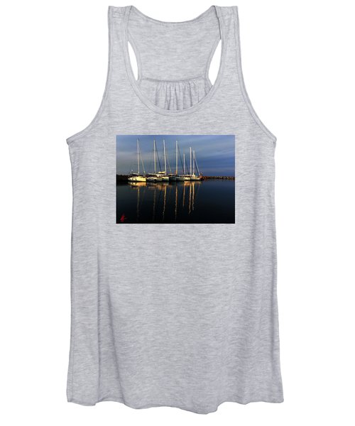 Night On Paros Island Greece Women's Tank Top