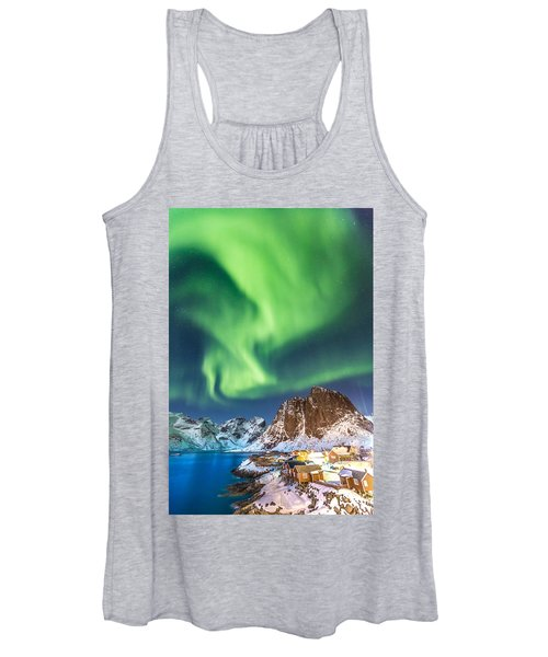 Northern Lights In Hamnoy Women's Tank Top