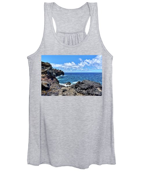 Northern Maui Rocky Coastline Women's Tank Top