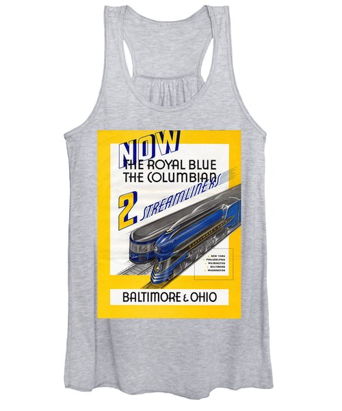 Now The Royal Blue The Columbian Women's Tank Top