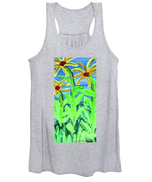 Oh Glorious Day Floral Women's Tank Top