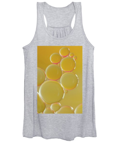 Oil Bubbles On Water Abstract Women's Tank Top