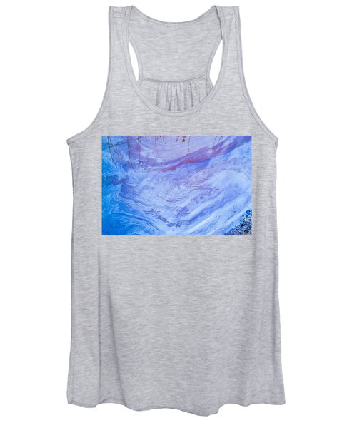 Oil Spill On Water Abstract Women's Tank Top