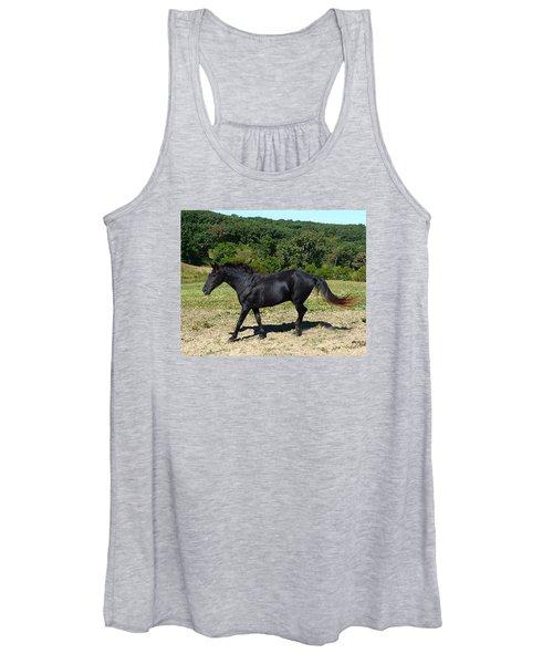 Old Black Horse Running Women's Tank Top