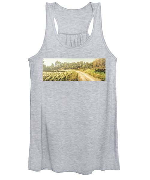 Old-fashioned Country Lane Women's Tank Top