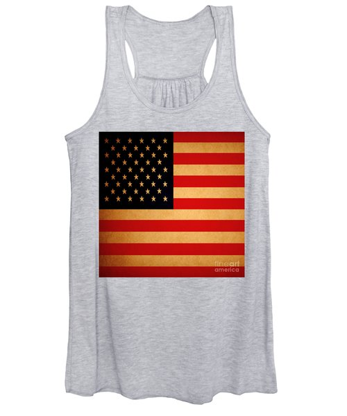 Old Glory . Square Women's Tank Top