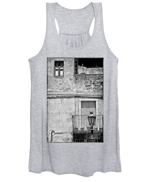 Old House In Taormina Sicily Women's Tank Top
