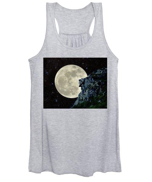 Old Man / Man In The Moon Women's Tank Top