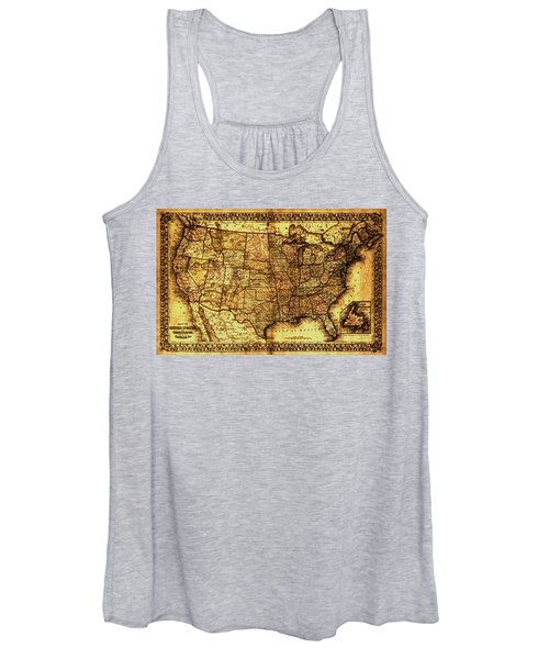 Old Map United States Women's Tank Top
