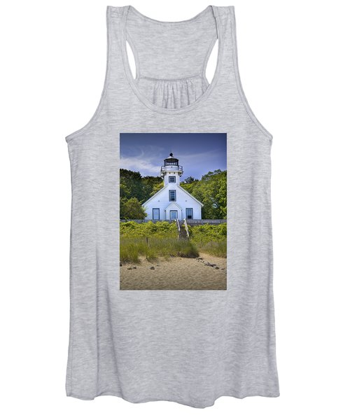 Old Mission Point Lighthouse In Grand Traverse Bay Michigan Number 2 Women's Tank Top