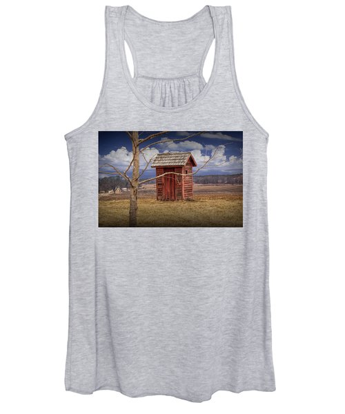 Old Rustic Wooden Outhouse In West Michigan Women's Tank Top