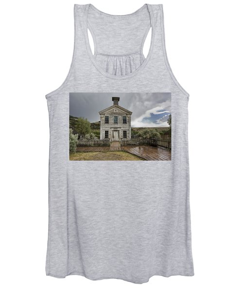 Old School House After Storm - Bannack Montana Women's Tank Top
