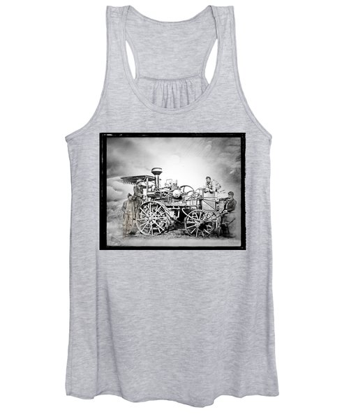 Old Steam Tractor Women's Tank Top