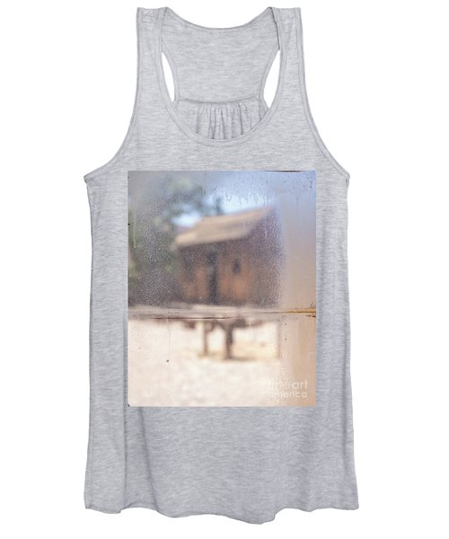 Old Western Town Through The Glass Women's Tank Top