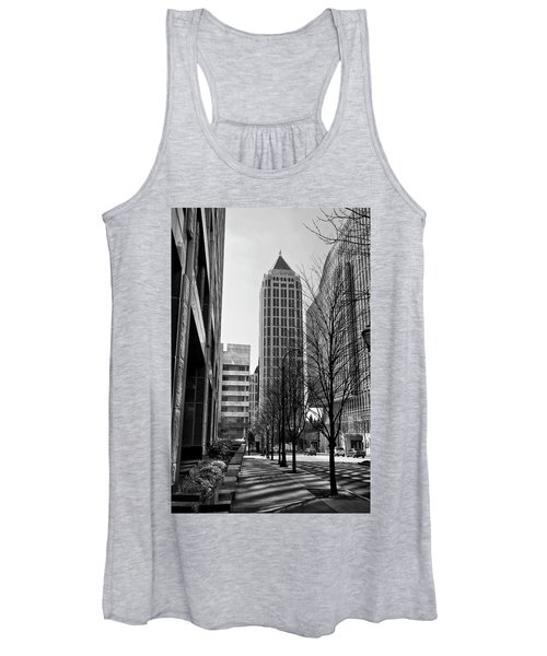 One Atlantic Center In Black And White Women's Tank Top