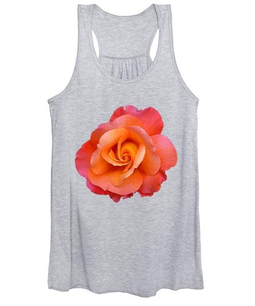 Orange Rosebud Highlight Women's Tank Top