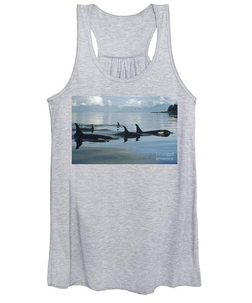 Orca Pod Johnstone Strait Canada Women's Tank Top