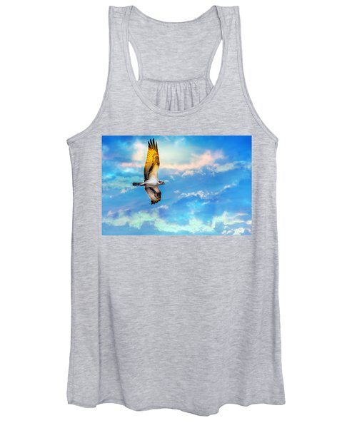 Osprey Soaring High Against A Beautiful Sky Women's Tank Top