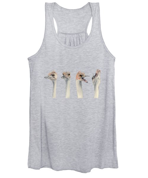 Drama Queen - Ostrich Painting Women's Tank Top