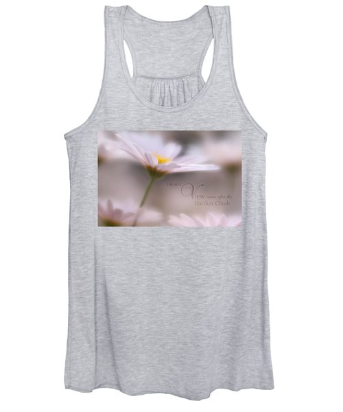 Over The Top With Message Women's Tank Top