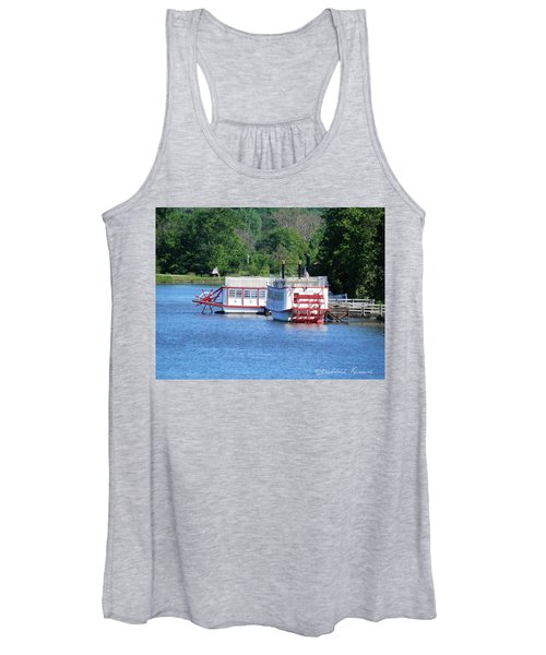 Paddleboat On The River Women's Tank Top