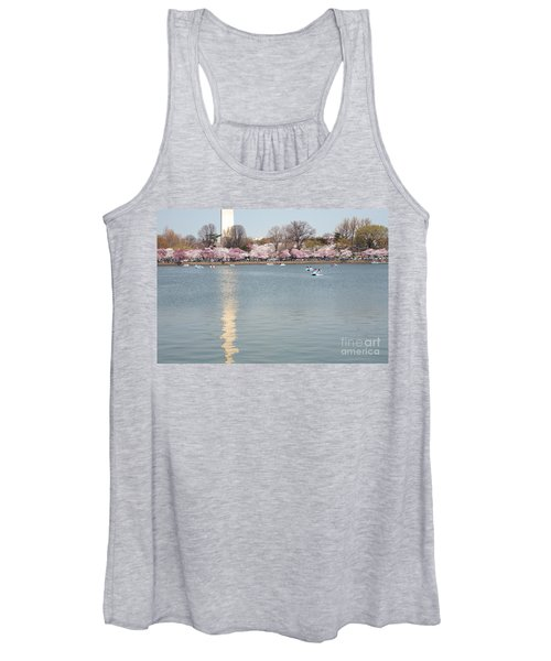Paddleboating At Cherry Blossom Time In Washington Dc Women's Tank Top