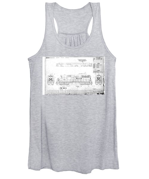 Painting And Lettering Diagramgp30 Women's Tank Top