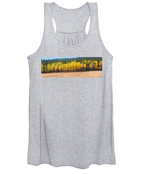 Panorama Of Aspen Grove Fall Foliage Peak To Peak Highway - Rocky Mountains Colorado State Women's Tank Top