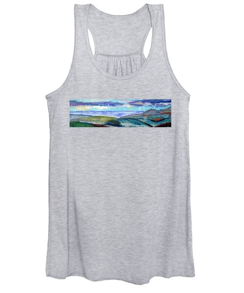 Panoramic View From Exeter Of Devon Hills Women's Tank Top