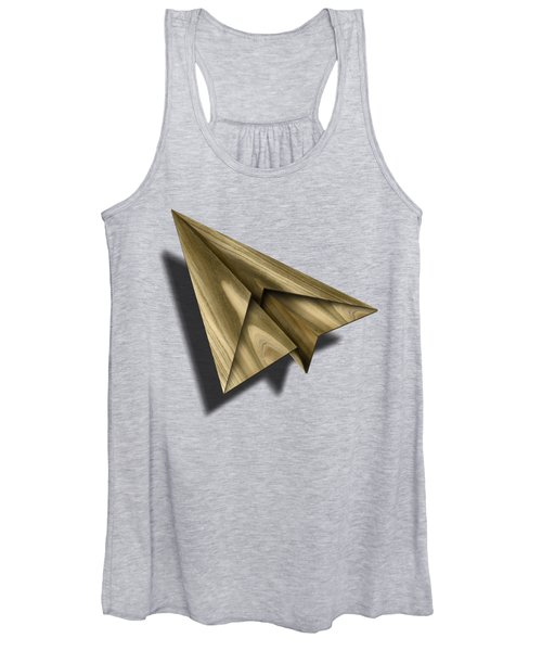 Paper Airplanes Of Wood 18 Women's Tank Top