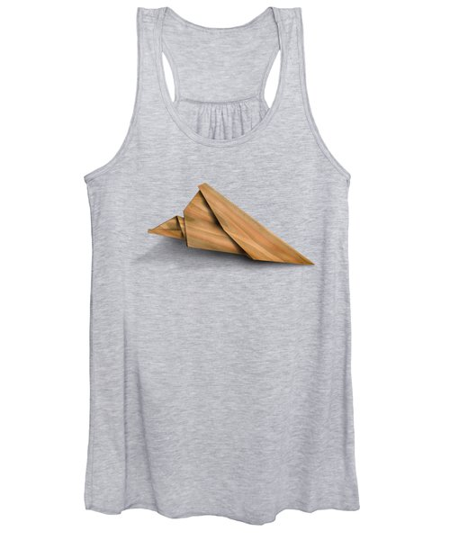 Paper Airplanes Of Wood 2 Women's Tank Top