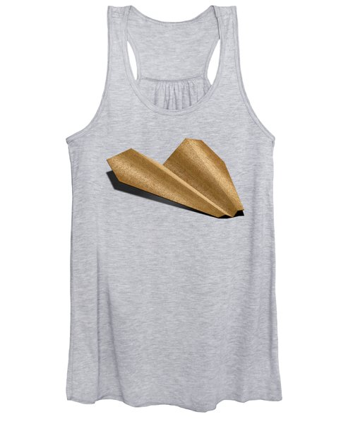Paper Airplanes Of Wood 6 Women's Tank Top