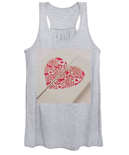 Paper Cut Heart Women's Tank Top