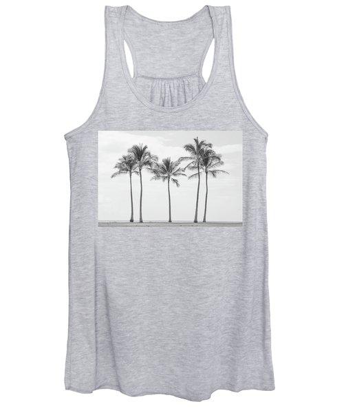 Paradise In Black And White II Women's Tank Top