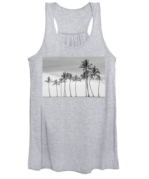 Paradise In Black And White Women's Tank Top