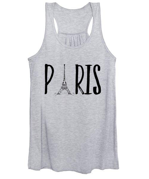 Paris Typography Women's Tank Top