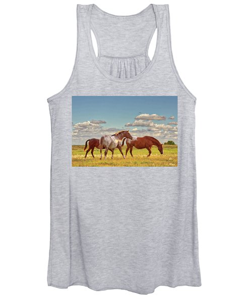 Party Of Three Women's Tank Top