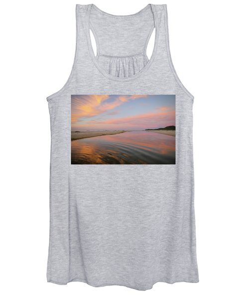 Pastel Skies And Beach Lagoon Reflections Women's Tank Top