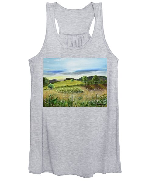 Pasture Love At Chateau Meichtry - Ellijay Ga Women's Tank Top