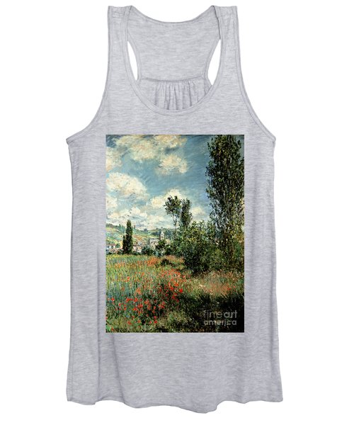 Path Through The Poppies Women's Tank Top