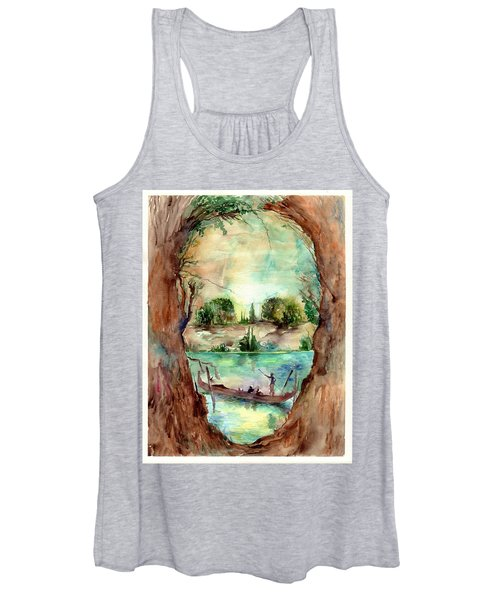 Paysage With A Boat Women's Tank Top