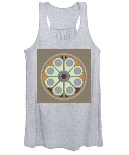 Peace Flower Circle Women's Tank Top